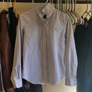 RALPH LAUREN NO IRON STRIPED BUTTON UP shirt